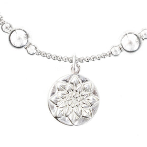 Lotus Flower Bali Ball Bracelet
