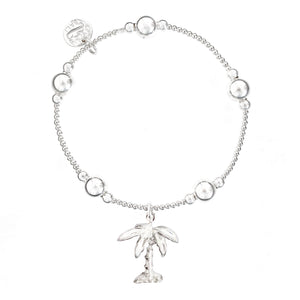 Palm Tree Bali Ball Bracelet