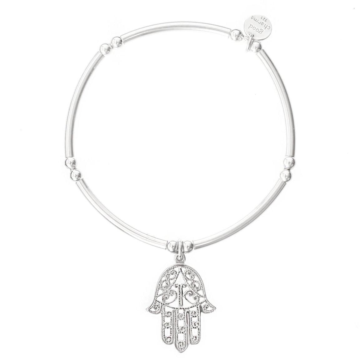 Hamsa Bangle Bracelet - good charma