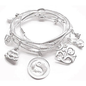 Balance Bracelet Set in Sterling Silver