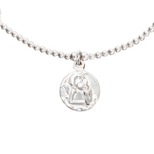 Load image into Gallery viewer, Angel Coin Charm in Silver (Sterling Silver)