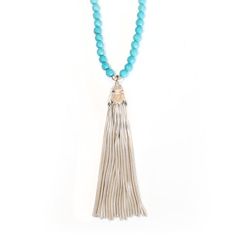 Tassel & Turquoise Necklace
