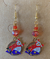 2009 Charm Wire Wrapped Earrings