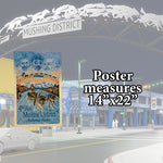Mushing District Poster by Jon Van Zyle