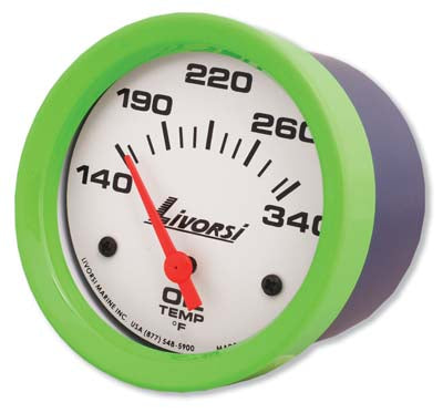 AA Livorsi - Mega & Race Series Oil Temperature Gauge 2-1/16 or 2-5/8