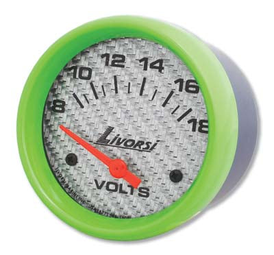 AA Livorsi - Mega & Race Series Voltmeter 2-1/16 or 2-5/8