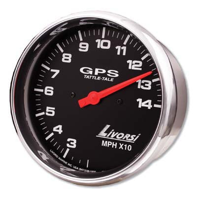 "AA Livorsi - 3-3/8""or 4-5/8 Mega or Race Series GPS Speedometer Gauge Only"