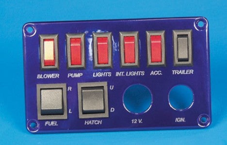 SWITCH PANEL-6 SP,2 DP,IGN,12V