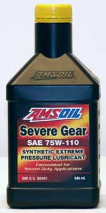 AMSOIL SEVERE GEAR¨ Synthetic  75W-110 - 1-Quart Bottle