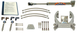 "Steering Mayfair Single Bravo/Single Ram Add-On Hydraulic Steering Kit, (Ram Mounting Location is 17-3/4"" from the side of the Gimbal Housing)"