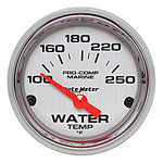 AutoMeter Chrome Ultra Lite Marine  Water Temp.