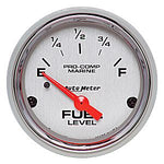 AutoMeter Chrome Ultra Lite Marine Fuel Gauge