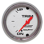 AutoMeter Chrome Ultra Lite Marine: Trim Gauges