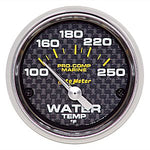 AutoMeter Carbon Fiber Pro Comp Marine Water Temp.