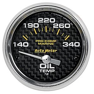 AutoMeter Carbon Fiber Pro Comp Marine  Oil Temp.