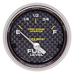 AutoMeter Carbon Fiber Pro Comp Marine: Fuel Level Gauge