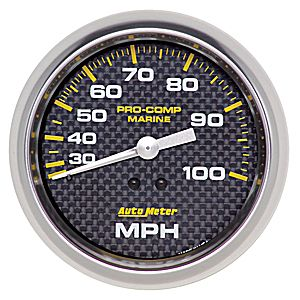 AutoMeter Carbon Fiber Pro Comp Marine: Speedometers (Pitot tube) 3-3/8""
