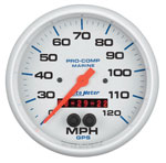 AutoMeter White Pro Comp GPS Multi Function Speedometer Gauge Kit 3-3/8""