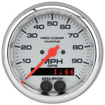 Autometer Chrome Ultra Lite GPS Multi Function Speedometer Gauge Kit 3-3/8""