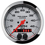 AutoMeter Chrome Ultra Lite GPS Multi Function Speedometer Gauge Only 4-5/8