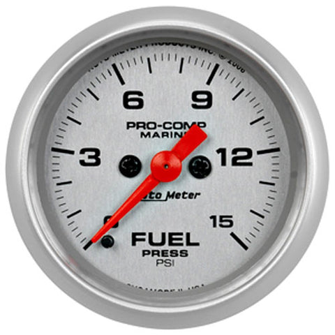 AutoMeter Platinum 0-15 PSI Fuel Pressure Gauge