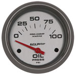 AutoMeter Platinum 2-1/16   0-100 PSI Electric Oil Pressure Gauge