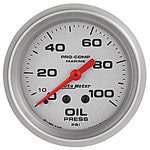 AutoMeter Platinum Mechanical 0-100 PSI Oil Pressure