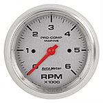 AutoMeter Chrome Ultra Lite 6000/8000 RPM Tachometer Gauge 3-3/8""