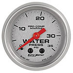 AutoMeter Platinum 0-35 PSI Mechanical Water Pressure Gauge
