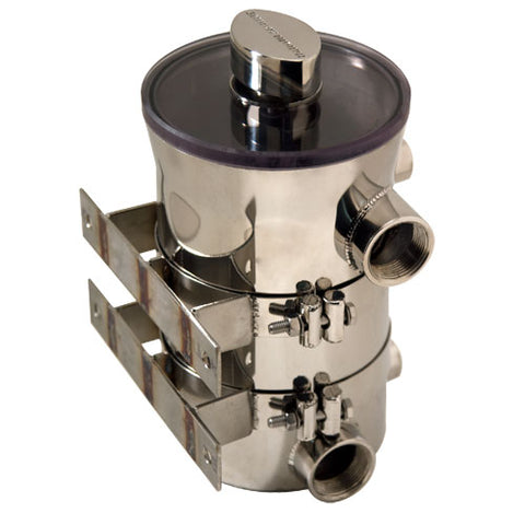 "Sea Strainer 1-1/4"" NPT HO Swirl-Away High Performance"