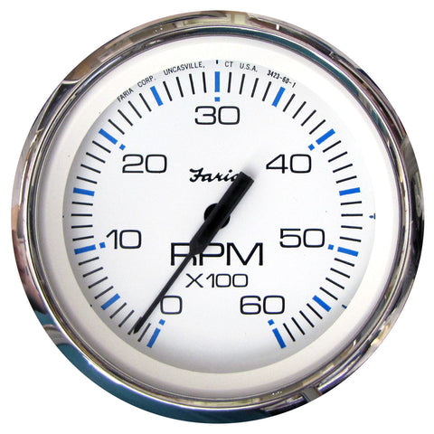 Faria Chesapeake SS Instruments - Tachometer (6000 rpm) Black or White
