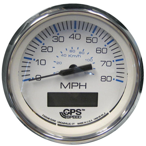 "Faria Chesapeake Series SS 4"" GPS Speedometer White or Black"