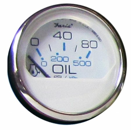Faria Chesapeake SS Gauges - Oil Pressure Gauge (0-80 psi) Black or White
