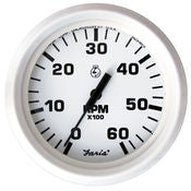 "Faria 4"" Dress White Series Tachometer"