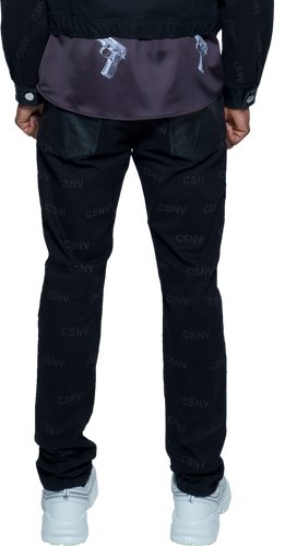 CSNV Black Drill Denim Jeans