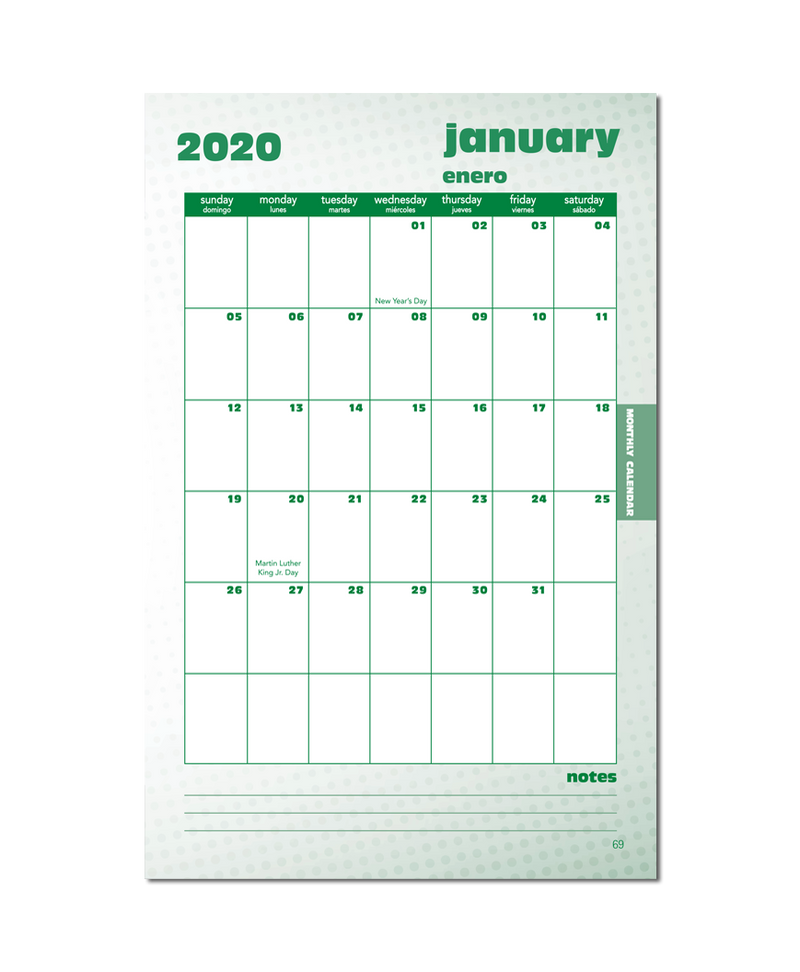 2020/2021 Standard Small Format Teacher Planner