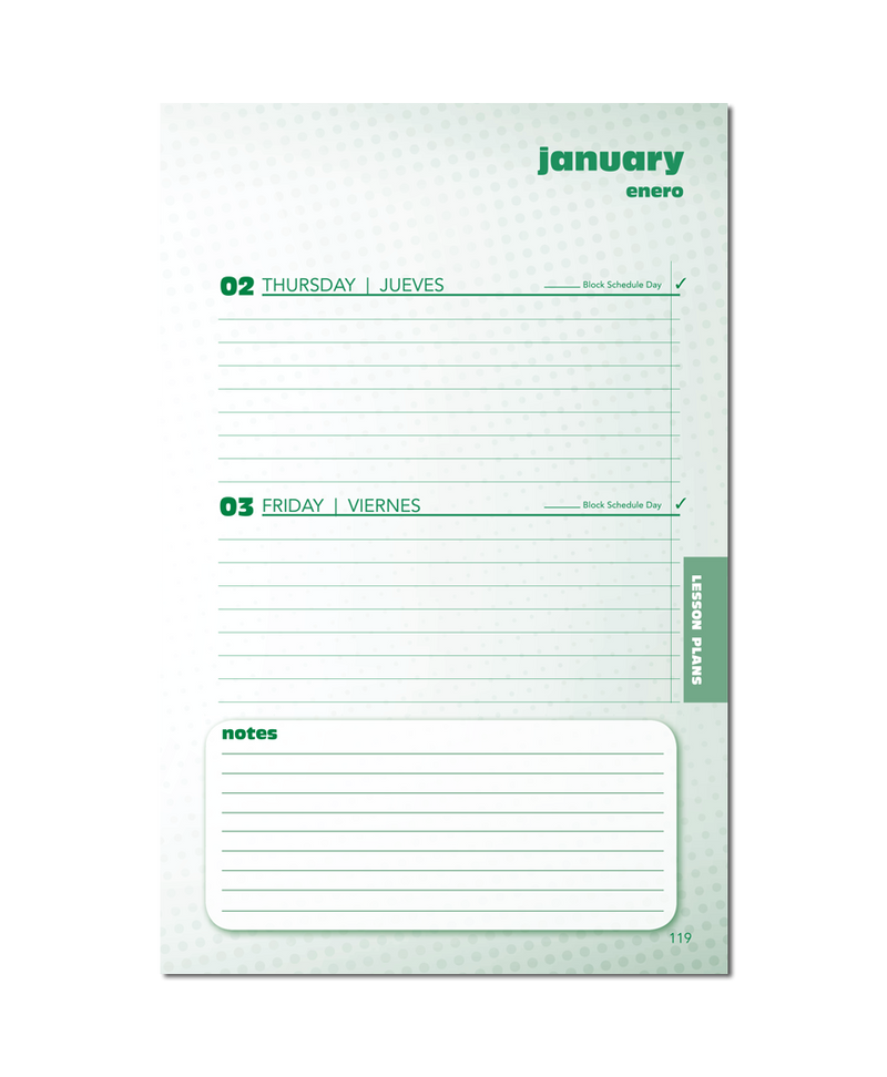 2021/2022 Standard Small Format Teacher Planner