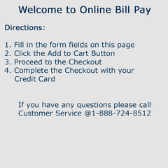 Payment of School Invoice via Credit Card