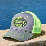 Reel Monster© Charcoal/Lime Green Hat RMLG-13