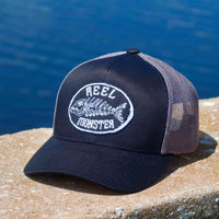 Reel Monster© Black/Grey Hat RMW-10