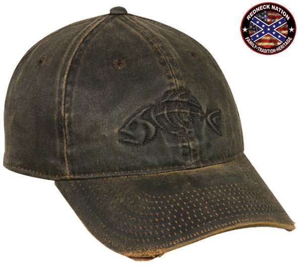 Redneck nation dark brown fishing hat 13 for Fishing hats for sale