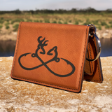 Buck and Doe ID Holder and Keychain wallet MMID-3