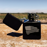 Old Glory Flip top Lighter Gift Set