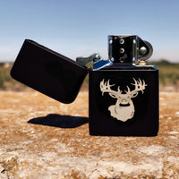 Big Buck Flip top Lighter Gift Set