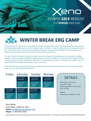 Winter Break Erg Camp - Private Elite Coaching, rowing, Xeno Müller, Elite Rowing Coach