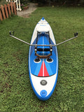 Xeno Muller Sliding Rigger set up on inflatable SUP
