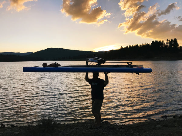Rowing anywhere with Sliding Rigger and SUP Xeno Muller
