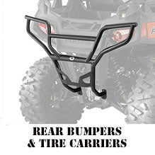 RZR XP 800 4 Seater Rear Bumpers & Tire Carriers