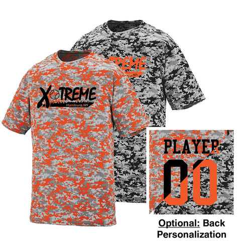 XFS - Personalized Adult/Youth Digi Camo Wicking Tee (Augusta 1798|1799)