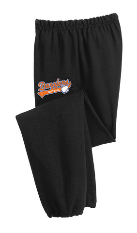 DSB - Embroidered Open Hem Sweatpants (12300)